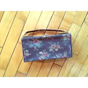 60s Floral Tapestry Clutch Purse L And M